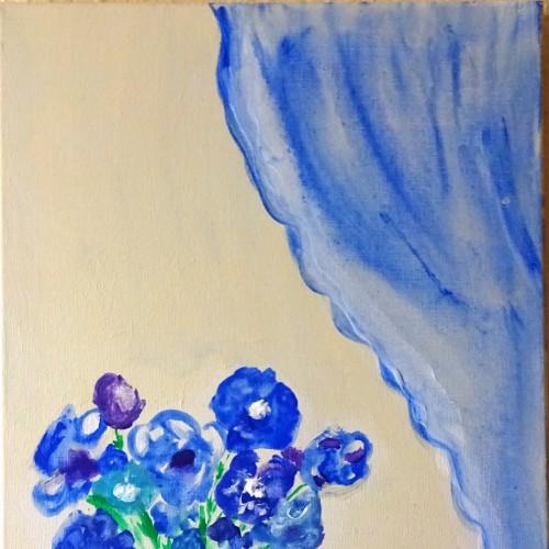 Blue, Acryl 30 x 40